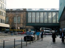 Glasgow Central Station glass bridge