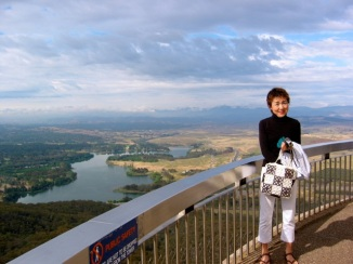 The Brindabellas from Black Mountain Tower, Canberra, ACT