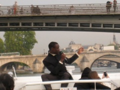 sunset cruise on the Seine, Paris